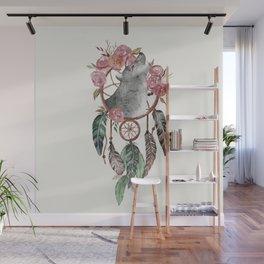 Wolf Dream Catcher Wall Mural