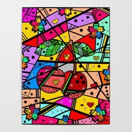 Popart Cherry by Nico Bielow Poster