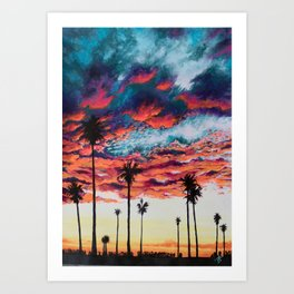 Tropical Sunset Art Print
