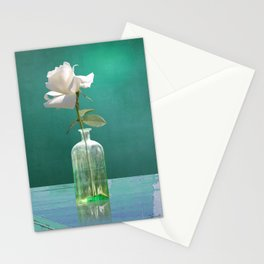 One White Rose Stationery Cards