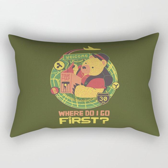 Where Do I Go Now Rectangular Pillow