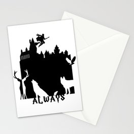 Potter clock and patronus group  Stationery Cards