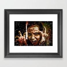 Shattering Horror. Framed Art Print