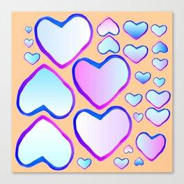Coeur douceur Canvas Print