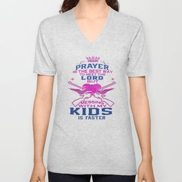 Messing with my Kids Unisex V-Neck