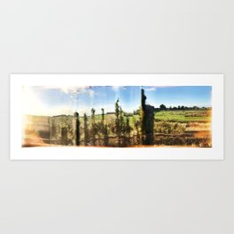Fractured English Countryside Art Print
