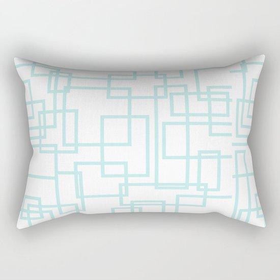 Geometric abstract pattern - light aqua Rectangular Pillow