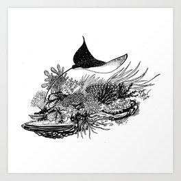 Eagle Ray Art Print