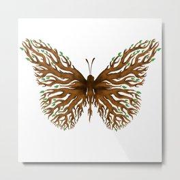 Wooden Butterfly Metal Print