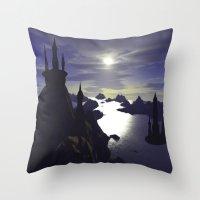 castle Throw Pillows featuring castle by giancarlo lunardon