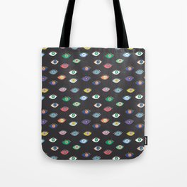 Eyez (Black) Tote Bag