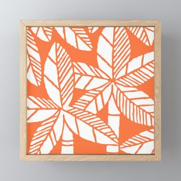 Tropical Palm Tree Composition Orange Framed Mini Art Print