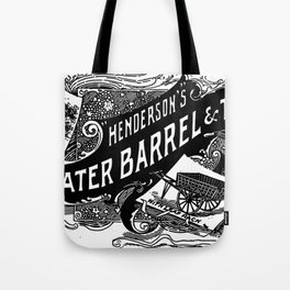 Henderson's Water Barrel & Truck 1894 Tote Bag