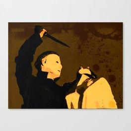 Michael Myers * Halloween * Vintage Horror Movie Inspiration Canvas Print