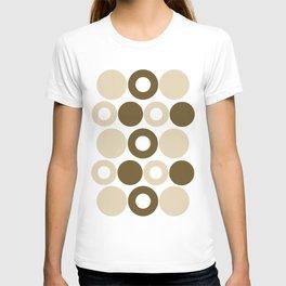 Brown Circles, Tan Dots, Pattern, Digital Design T-shirt