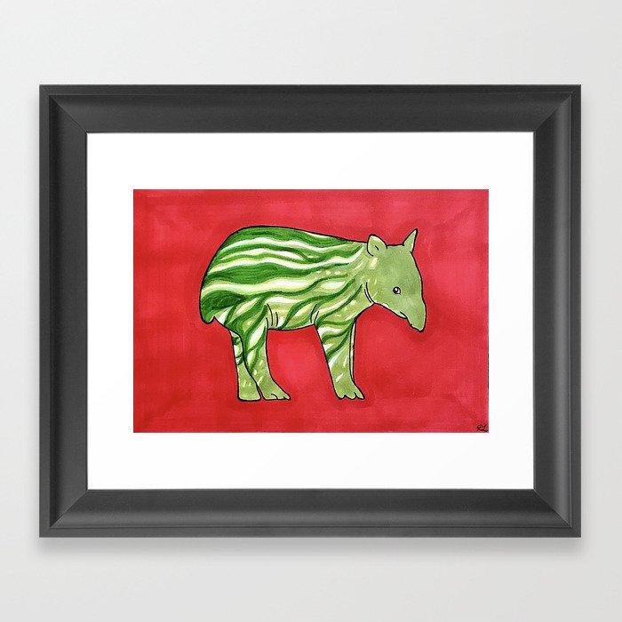 Baby Tapir-melon Gerahmter Kunstdruck