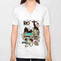 rio de janeiro V-neck T-shirts featuring RIO DE JANEIRO by Valter Brum