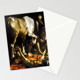 Caravaggio Conversion on the Way to Damascus Stationery Cards