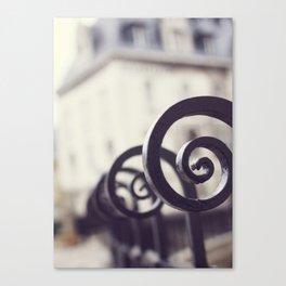 Paris Fence Canvas Print