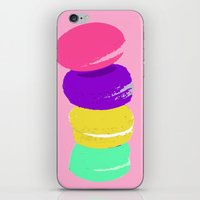 macaron iPhone & iPod Skins featuring macaron by myepicass