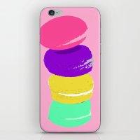 macaron iPhone & iPod Skins featuring macaron by vidikay