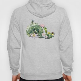 Japanese Water Lilies and Lotus Flowers Hoody