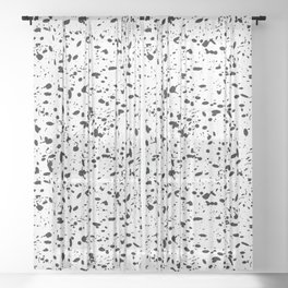 Black and white ink pattern Sheer Curtain