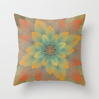 lotus Throw Pillows featuring Lotus by HK Chik
