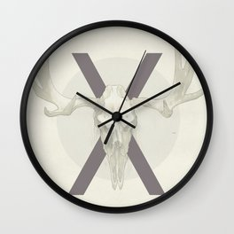 "X's and O's series ""Moose"" Wall Clock"