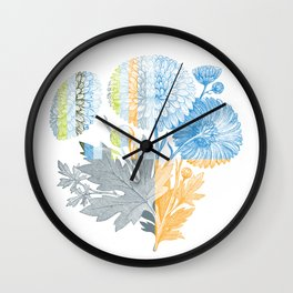 Flower Division Wall Clock