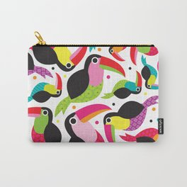 Cute colorful patchwork tucan illustration pattern Carry-All Pouch