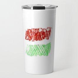 flag of hungary - chalk version Travel Mug