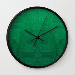 Round and About Emerald Wall Clock