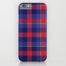 Red and Blue plaid iPhone 6s Slim Case
