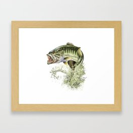 Bigmouth Bass Leaping to Freedom Framed Art Print