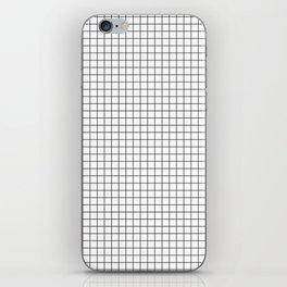 White Grid Black Line iPhone Skin