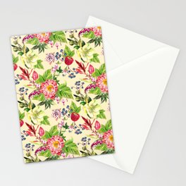 Fowers and Berries Spring Stationery Cards
