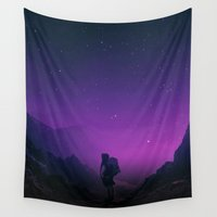 outdoor Wall Tapestries featuring Not all those who wander are lost  by Stoian Hitrov - Sto