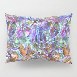 Floral Abstract Stained Glass G268 Pillow Sham