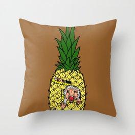 Pineapple Monkeys Throw Pillow