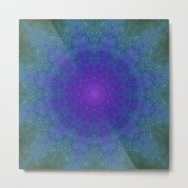 Purple Haze Mandala Metal Print
