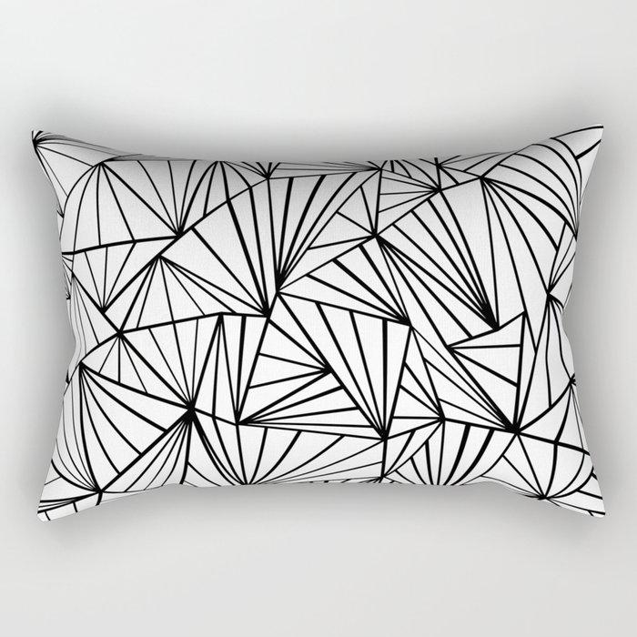 Ab Fan #2 White Rectangular Pillow