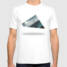 There's something wrong with the Triangle Mens Fitted Tee MEDIUM White