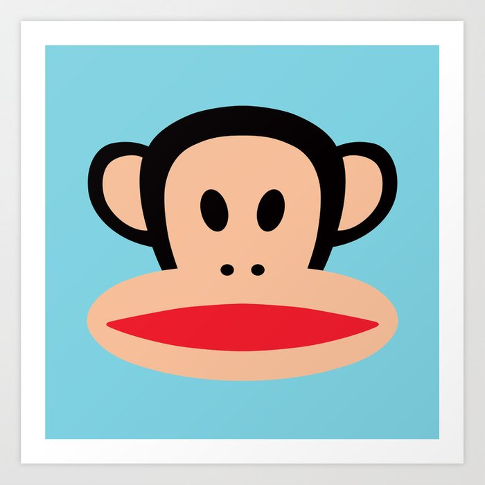 Paul Frank Käsilaukku : Julius monkey by paul frank art print cutecutecute
