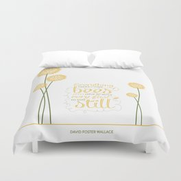 David Foster Wallace on Bees  Duvet Cover