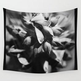 Lupine Black & White Macro Wall Tapestry