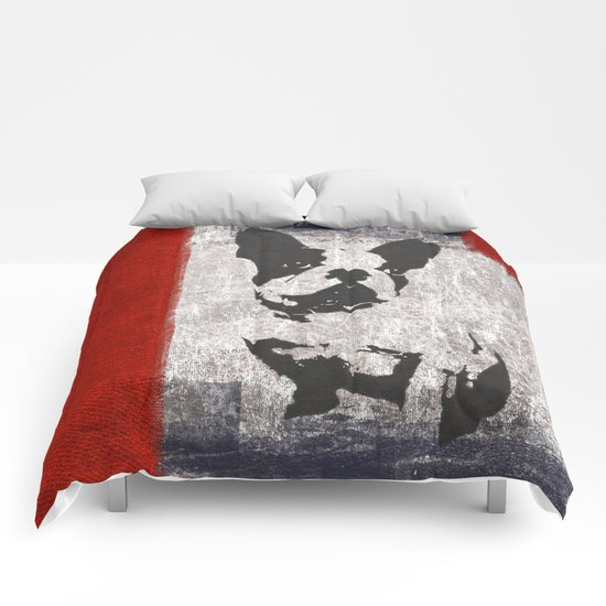 Bull dog red Comforters