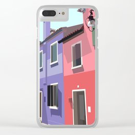 Burano houses Clear iPhone Case