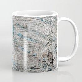 Peeled Blue Paint on Wood rustic decor Coffee Mug