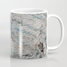 Peeled Blue Paint on Wood rustic decor Coffee Mug
